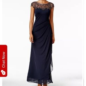 Petite Embellished Illusion Gown